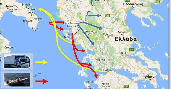 Οι δρόμοι των ναρκωτικών προς Ελλάδα και Ευρώπη