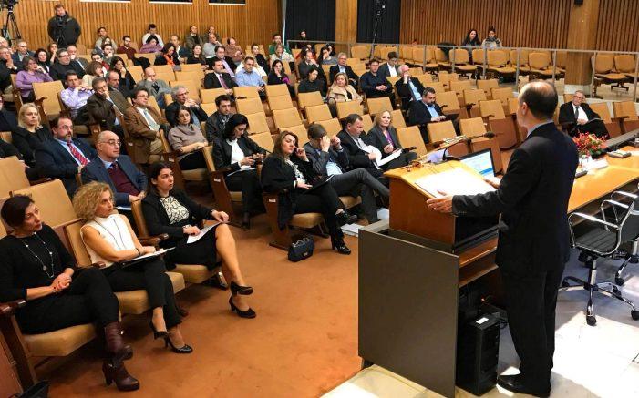 Στο Συνέδριο του Εθνικού Ιδρύματος Ερευνών η Μαρία Αντωνίου ως Εκπρόσωπος του Προέδρου της ΝΔ Κυριάκου Μητσοτάκη