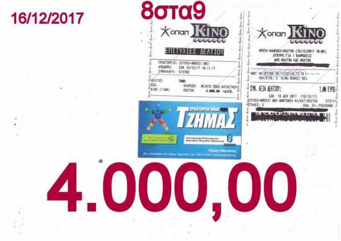 Ξεκίνησαν οι γιορτές στο Πρακτορείο Οπαπ Τζήμας με 4.000€