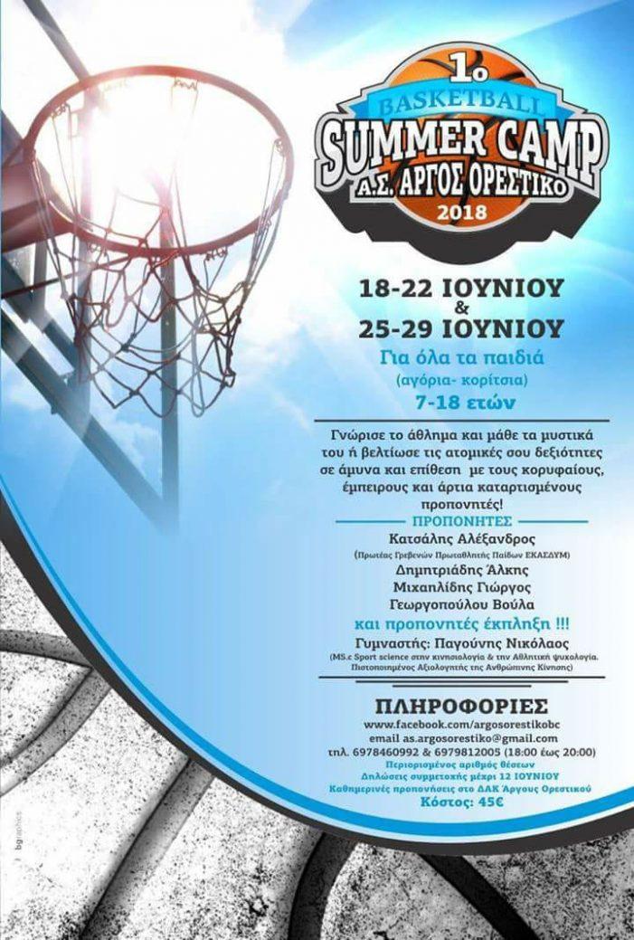 Α.Σ. Άργους Ορεστικού: 1ο Basketball Summer Camp