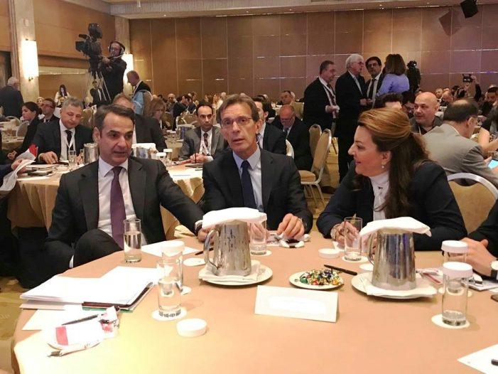 Μαζί με τον Κυριάκο Μητσοτάκη η Μαρία Αντωνίου στο Συνέδριο του ΣΕΠΕ για την σημασία της ψηφιακής τεχνολογίας