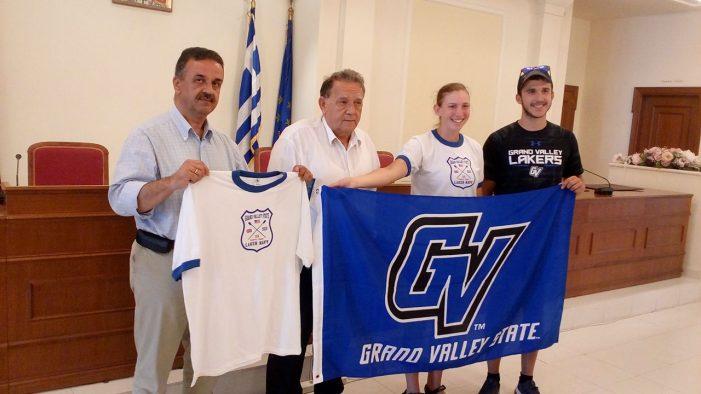 Το Δήμαρχο Καστοριάς επισκέφτηκε η ομάδα κωπηλασίας του Πανεπιστημίου Grand Valley
