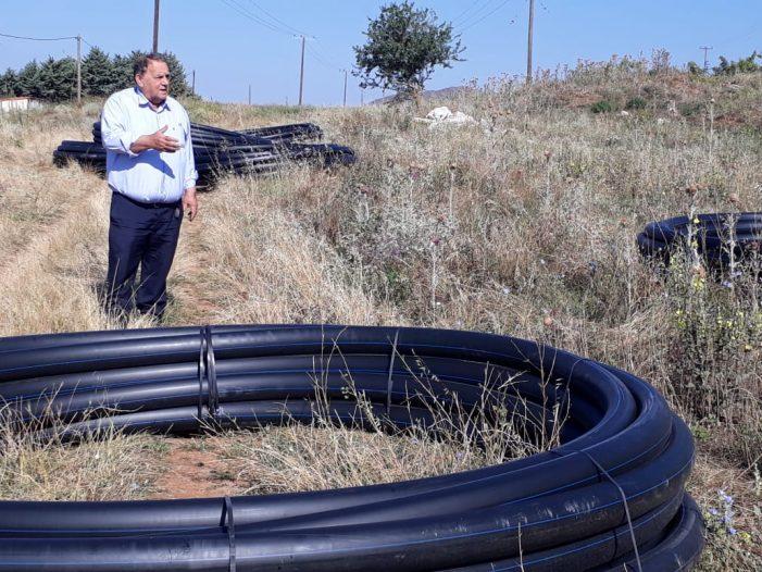 Ο Α. Αγγελής στα έργα υδροδότησης στο Δισπηλιό