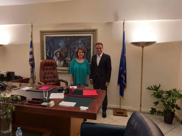 Συνάντηση Ο. Τελιγιορίδου με τον Περιφερειάρχη Δ. Μακεδονίας κ. Καρυπίδη για την επίλυση αγροτικών προβλημάτων