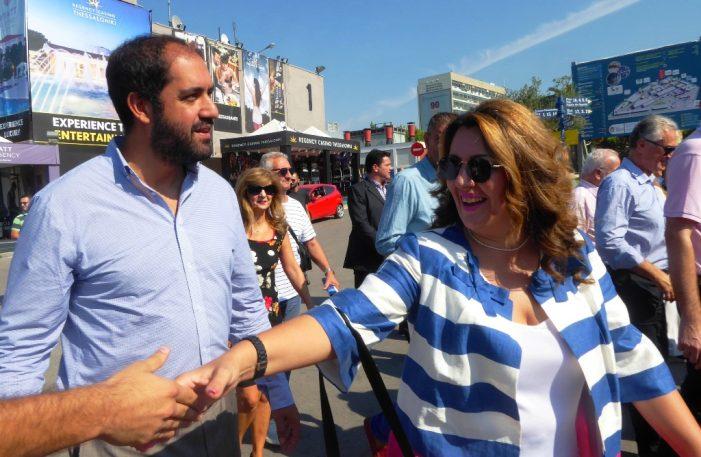 Η Μαρία Αντωνίου στη ΔΕΘ, στο πλαίσιο της παρουσίας του Προέδρου της ΝΔ Κυριάκου Μητσοτάκη στη Θεσσαλονίκη