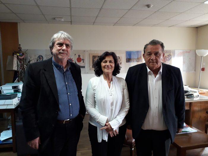 Επισκέψεις Α. Αγγελή και Ε. Στεργιόπουλου στην Αθήνα