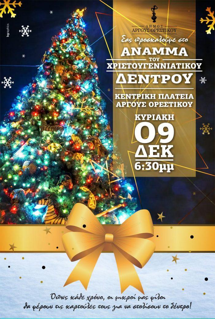 Άργος Ορεστικό: Το άναμμα του Χριστουγεννιάτικου δέντρου