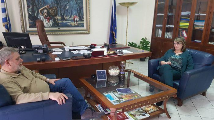 Συνάντηση εργασίας είχε η Υφυπουργός ΑΑΤ κ. Ολυμπία Τελιγιορίδου με τον κ. Μαρδίρη Θεόδωρο