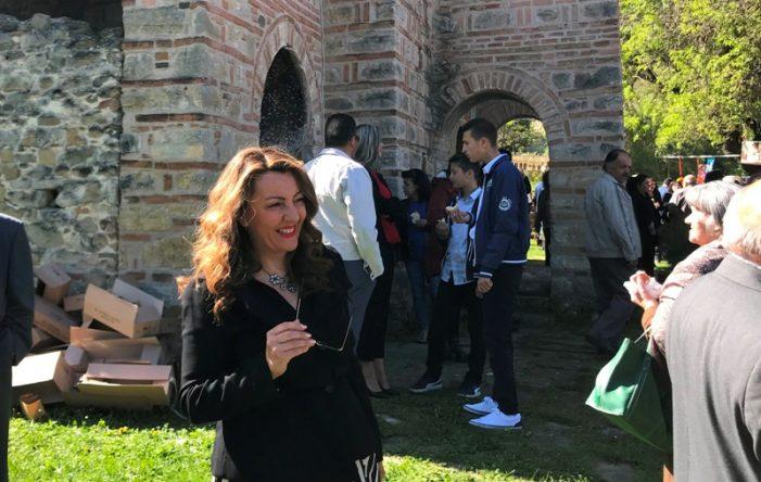 Η Μαρία Αντωνίου στην Ομορφοκκλησιά για την γιορτή του Αγίου Γεωργίου