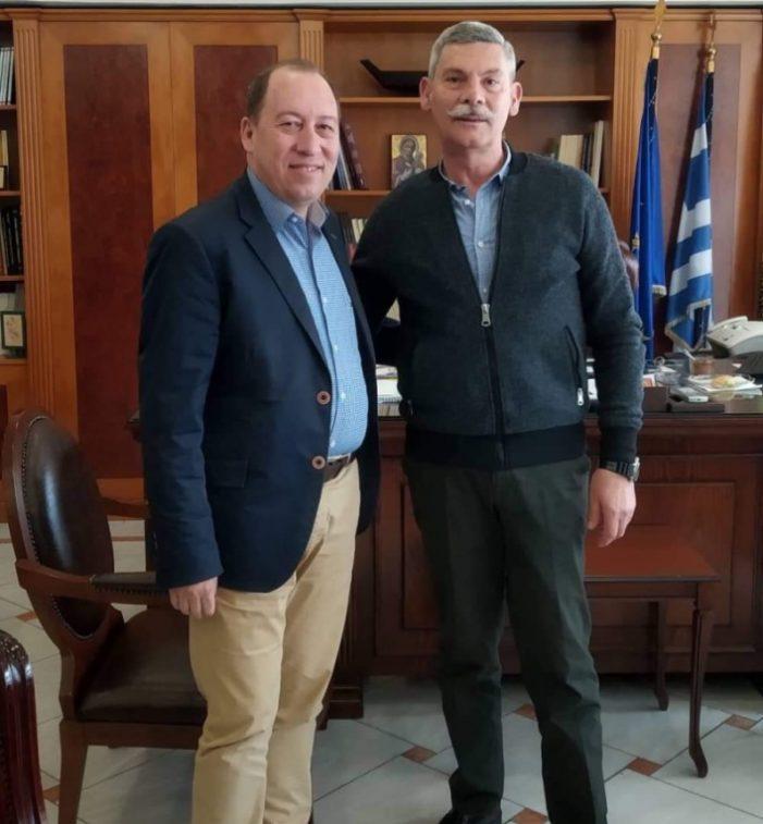 Επίσκεψη του Ευρωβουλευτή κ. Ελευθέριου Σιναδινού στον Αντιπεριφερειάρχη Καστοριάς