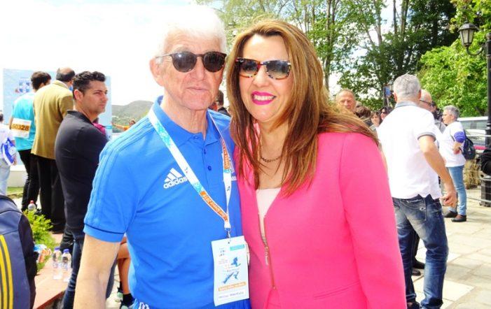 Η Μαρία Αντωνίου στο Run Greece Καστοριάς