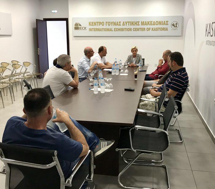 Συναντήσεις της Αγνής Κανδύλη με φορείς της Καστοριάς