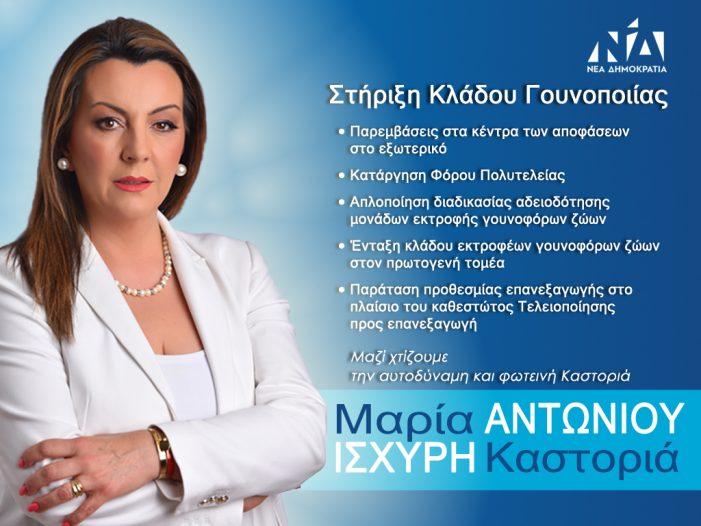 Η Μαρία Αντωνίου για τη στήριξη του κλάδου της Γουνοποιίας