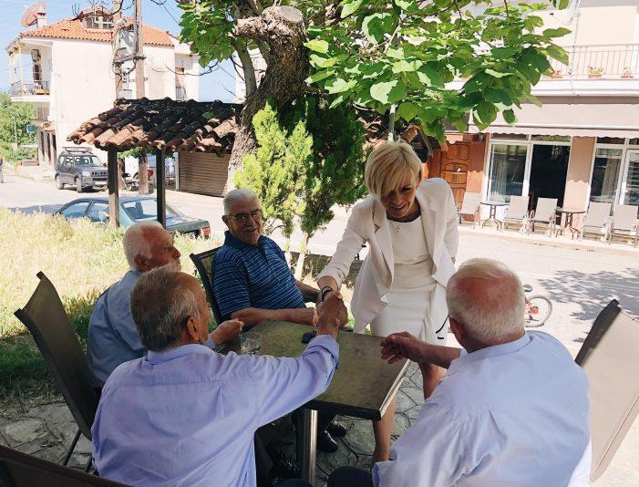Επισκέψεις της Αγνής Κανδύλη σε περιοχές της Καστοριάς