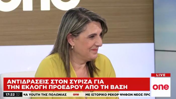 Η Ολυμπία Τελιγιορίδου στο One channel