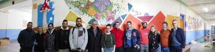 Τοιχογραφική παρέμβαση στο Δημοτικό Σχολείο Γαλατινής από φοιτητές του Τμήματος Εικαστικών και Εφαρμοσμένων Τεχνών Φλώρινας