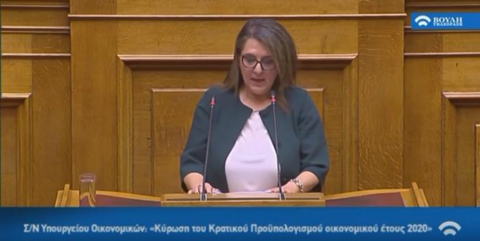 Ομιλία Ολυμπίας Τελιγιορίδου για τον προϋπολογισμό