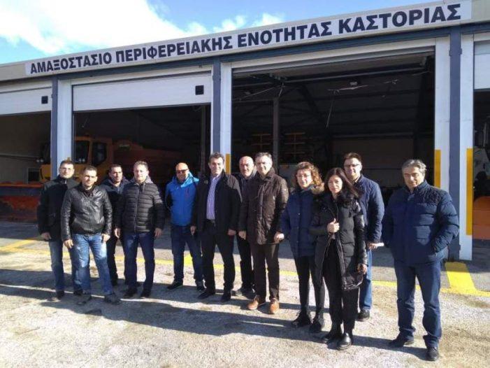Ο Περιφερειάρχης Δυτικής Μακεδονίας και ο Αντιπεριφερειάρχης Καστοριάς στο Αμαξοστάσιο