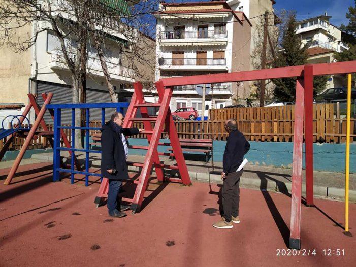 Αυτοψία Δημάρχου Π. Κεπαπτσόγλου σε παιδικές χαρές του Άργους