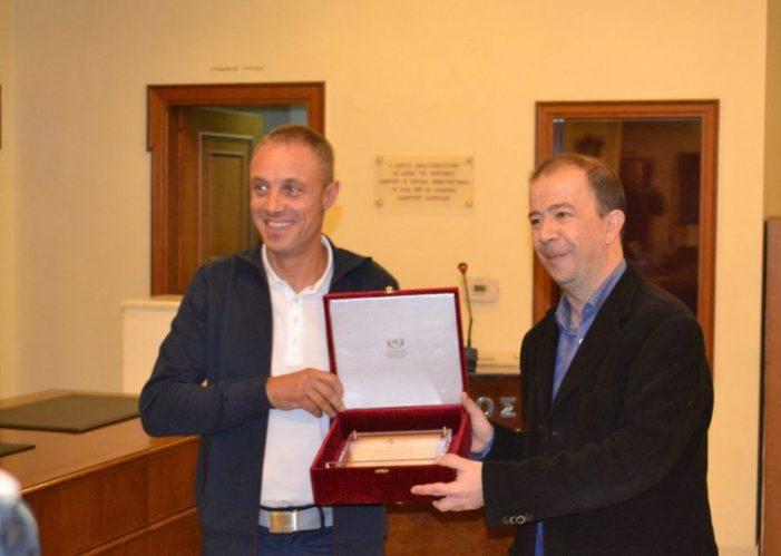 Ο Δήμος Καστοριάς τίμησε τον Ιστιοπλόο Μάρκο Σπυρόπουλο