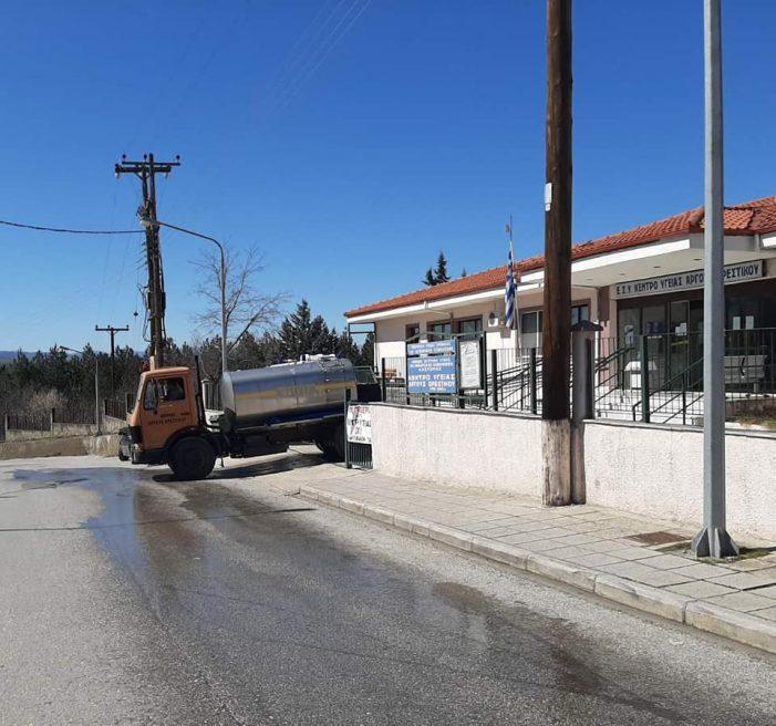 Ξεκίνησε η απολύμανση κοινόχρηστων χώρων του Άργους Ορεστικού