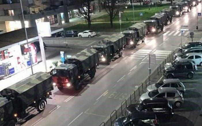 Εικόνα σοκ από το Μπέργκαμο με μεγάλο στρατιωτικό κομβόι να μεταφέρει πτώματα του κορονοϊού