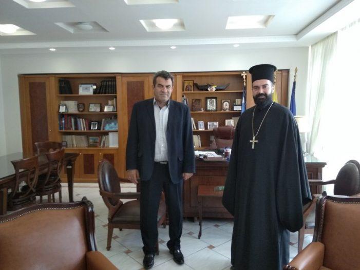 Εθιμοτυπική συνάντηση  Αντιπεριφερειάρχη Καστοριάς &  Αρχιμανδρίτη, Πατέρα Αγαθάγγελου Σίσκου