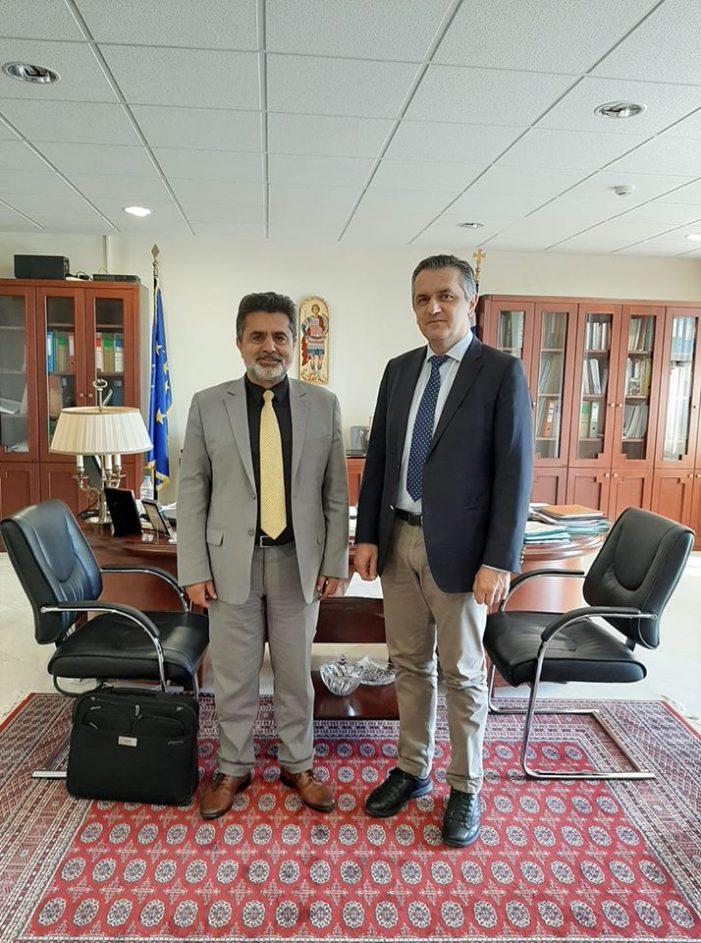 Συνάντηση Ζ. Τζηκαλάγια με τον Περιφερειάρχη Δ.Μακεδονίας Γ. Κασαπίδη