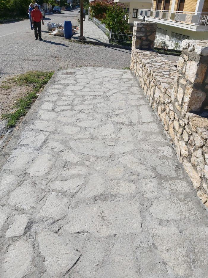 Δήμος Άργους Ορεστικού: Διαμόρφωση πεζοδρομίων Κοινότητας Μηλίτσα