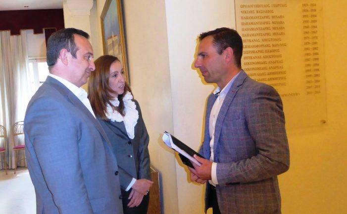 Επίσκεψη κλιμακίου του Υπουργείου Ψηφιακής Διακυβέρνησης  στο Δημαρχείο Καστοριάς για το καινοτόμο Πρόγραμμα ΚΕΠ Plus