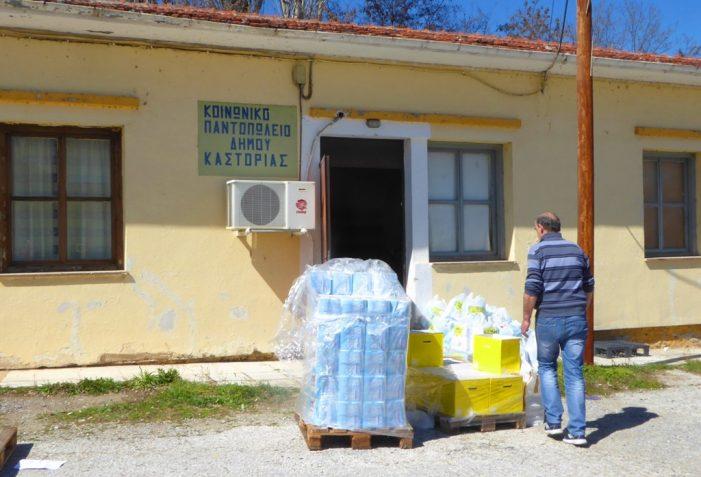"""Διανομή τροφίμων από το Δήμος Καστοριάς σε δικαιούχους του Προγράμματος """"TEBA"""""""