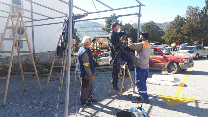 Κατασκευή χώρου αναμονής στο Νοσοκομείο Καστοριάς από τον Δήμο Άργους Ορεστικού