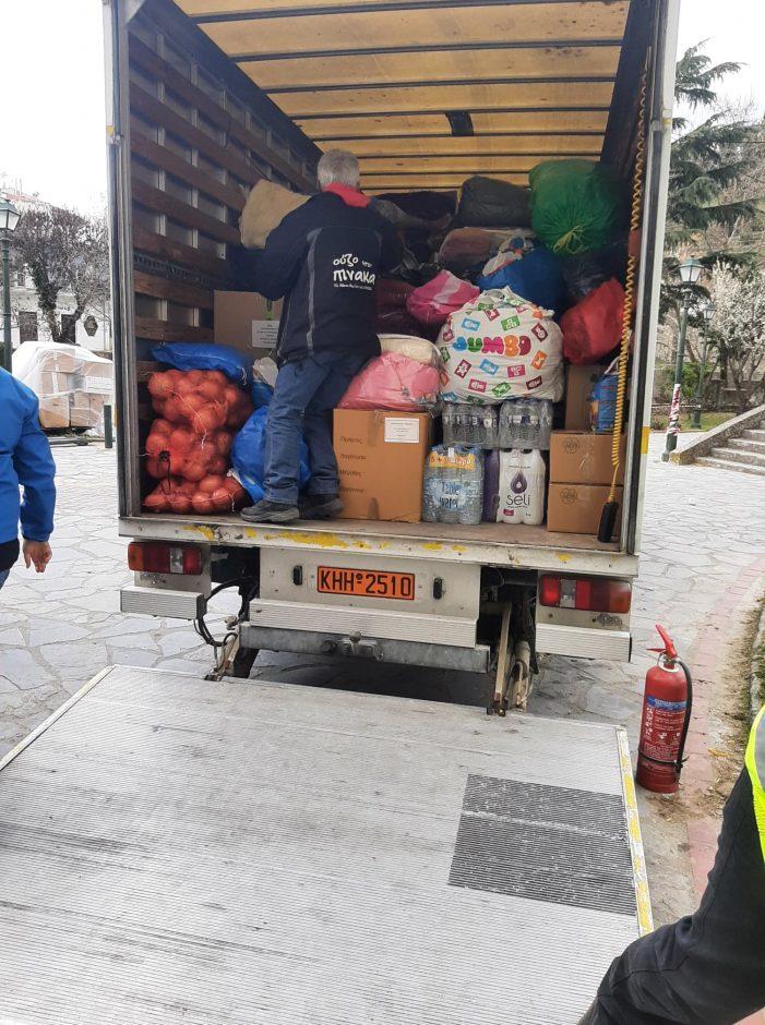 Παραδόθηκε η βοήθεια της διοίκησης και των κατοίκων του Δήμου Άργους Ορεστικού στους σεισμοπαθείς