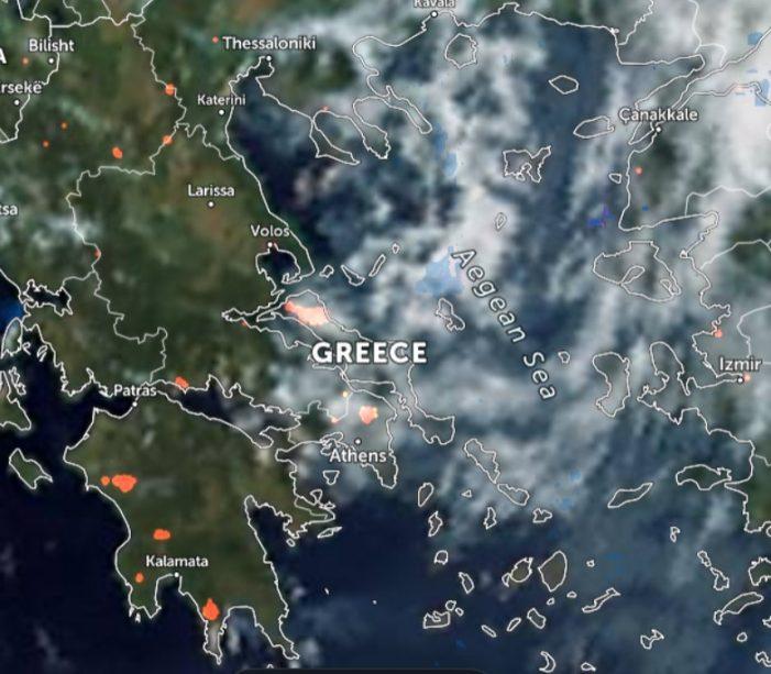 Δείτε αναλυτικά τα πύρινα μέτωπα στην Ελλάδα και όλο τον κόσμο