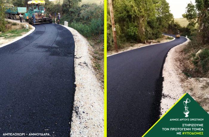 Σε εξέλιξη η ασφαλτόστρωση αγροτικών δρόμων στον Δήμο Άργους Ορεστικού